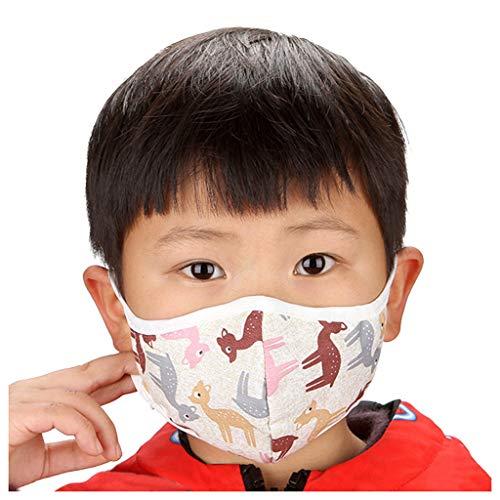 Wtouhe Cubierta Facial de Boca para niños Patrones de Estrella de Vaca de Oso PM 2.5 Cubierta Facial antipolución Antipolvo Boca de mufla 1PC