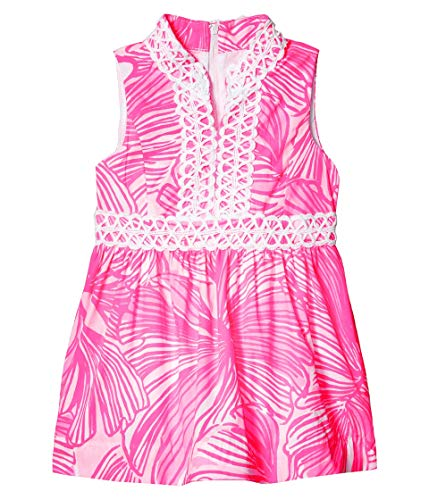 Lilly Pulitzer Kids Girl's Mini Franci Dress (Toddler/Little Kids/Big Kids) Prosecco Pink Fronds Place 14 Big Kids