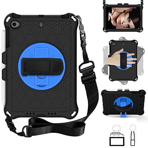 Tablet PC Bolsas Bandolera Funda para niños para iPad Mini 5 4 3 2 1, Cubierta de caja de EVA a prueba de choques a prueba de choques liviana y de cuerpo completo con soporte plegable incorporado y ma