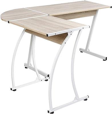 Relaxdays 10016734 mesa plegable con cajón de bambú 55 x 33 x 24 ...