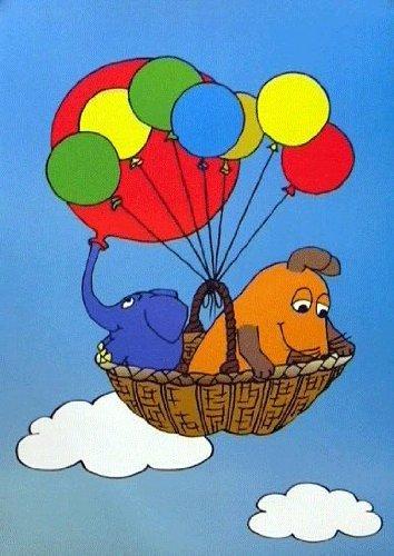 Poster+ Die Sendung mit der Maus - Die Maus und der Elefant: Luftballons Kleinformat [30 x 40]