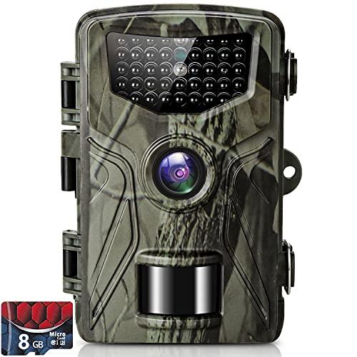 SUNTEKCAM Cámara de Caza Nocturna 36MP 2.7K con Detección de Acción Camara Fototrampeo Caza con 28pcs LED Negro Infrarrojo y Impermeable IP66 para Vigilancia de la Fauna