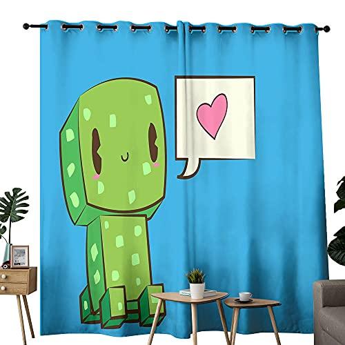 Cortina divisora de privacidad para habitación de Minecraft, para dormitorio, niñas, habitación de 183 x 243 cm