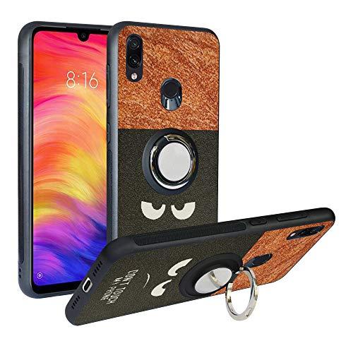 Funda para Xiaomi Redmi Note 7, Fashion Design [Antigolpes] con 360 Anillo iman Soporte, Resistente a los arañazos TPU Funda Protectora Case Cover para Redmi Note 7 Pro,Do Not Touch