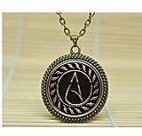 Atheist Symbol Necklace, Atom Pendant, Atheist Jewelry, No Religion Necklace (1)
