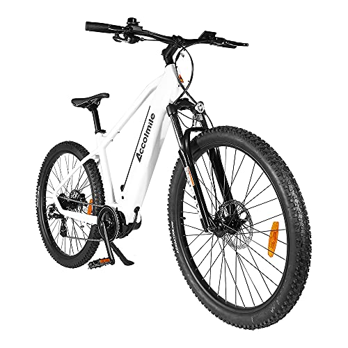 """Accolmile Vélo à Assistance Électrique 27.5"""", Vélo de Montagne, Moteur Pédalier M200 36V 250W, Batterie Lithium-ION 15Ah, Shimano 8 Vitesses, Fourche Avant à Suspension"""