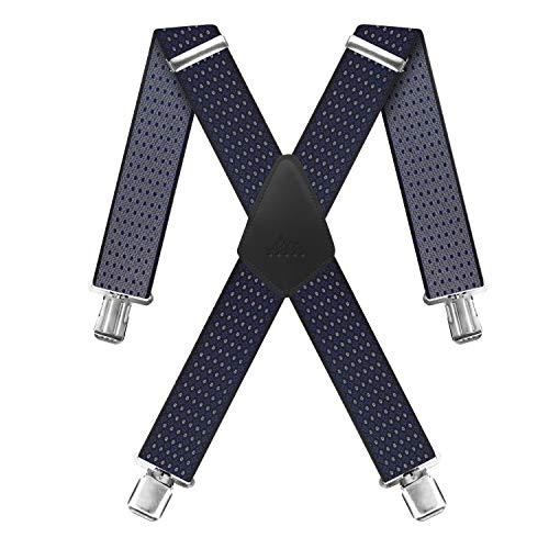 Hosenträger für Herren X förmige 5cm breit verstellbar und elastisch mit einem sehr starken Clips, Hosenträger X-Form Lange für Männer und Damen Hose