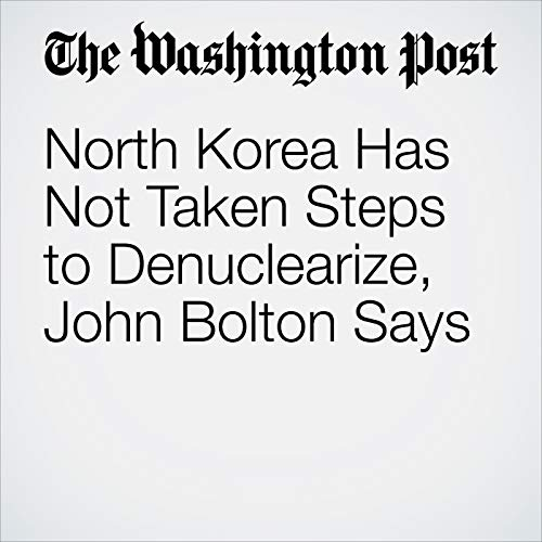 North Korea Has Not Taken Steps to Denuclearize, John Bolton Says copertina