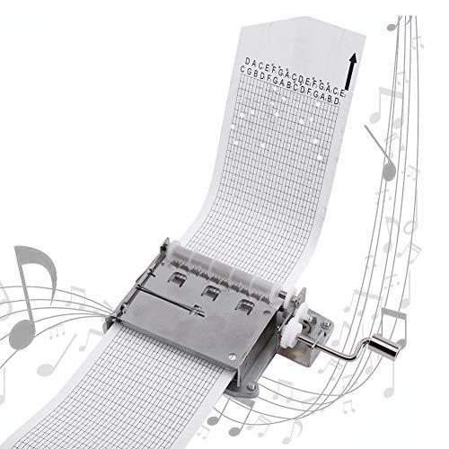 Garosa DIY Music Box 30 notas de manivela manual, caja de música, caja de música, caja con 3 bandas DIY tus canciones