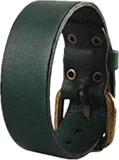Antique Men's Leather Cuff Bracelet, Leather Wristband Jewelry S056