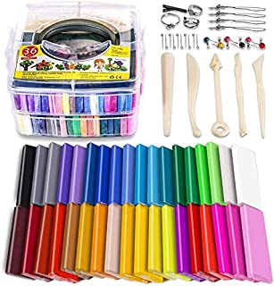 Polymer Clay Starter Kit, 36 Colors Oven Bake Clay, Baking Modeling Clay, DIY Craft Clay, 5 Sculpting Tools, Accessories, ...