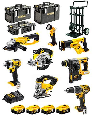 DeWALT Kit XP895P4 (DCD796+DCG412+DCH273+DCS387+DCS391+DCS331+DCL040+DCF880+4 x 5,0 Ah+DCB115+DS150+DS300+DS400+CADDY)