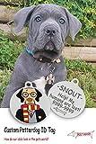 Snout Fashion Potterdog, étiquette d'identification pour Chien en Acier Inoxydable - Harry Potter dans Le Monde des Chiens - Plaque d'identification personnalisée (Over 10kg/20lb (Ø35mm))