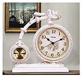 Reloj de Mesa Decorativo Reloj de la mesa de resina retro de 13.3 pulgadas usada para la sala de estar decoración reloj de escritorio en el reloj de mesa arábiga con termómetro Reloj de Escritorio