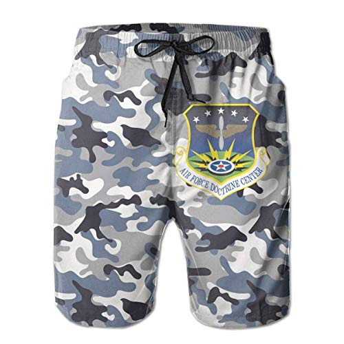 Jiger Air Force Doctrine Center zwembroek voor heren, Quick Dry, waterdichte strandbroek, met zakken