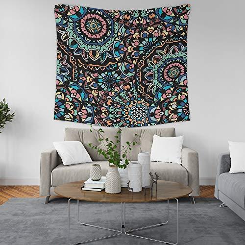 KHKJ Tapiz de Mandala Indio, Manta de Tela, Alfombra, decoración de Pared, decoración de habitación Colgante, Revestimiento de Paredes, Dormitorio A6, 200x180cm