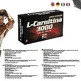 Suplemento Deportivo L-Carnitina 3000 Líquida con vitamina C - Antioxidante natural y Quemagrasas -   20 Viales (Sabor Limón 🍋)