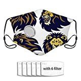 Lion Head Esport Logo Set Colección Premium Masco Adulto Antipolvo Cubierta facial Cubierta bucal, Elemento filtrante reemplazable, Reutilizable