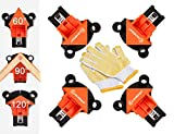Corner Clamps for Woodworking, CJANDEP 4 Pack 60/90/120 Degree Adjustable Single Handle Angle Clamp with Gloves for Making Cabinets, Drawers, Picture Framing