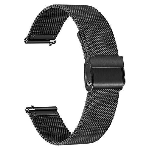 TRUMiRR Ersatz für Withings Steel HR Sport/Galaxy Watch 3 41mm/Moto 360 3rd Gen/Amazfit GTR 42mm Armband, Mesh Gewebt Edelstahl Uhrenarmband Quick Release Armband für Samsung Galaxy Watch3 41mm