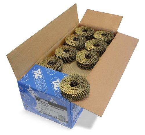 Tacwise 0996 Bobina plana de clavos galvanizados y anillados 2.1/40 mm, 2.1/40mm, Set de 14400 Piezas