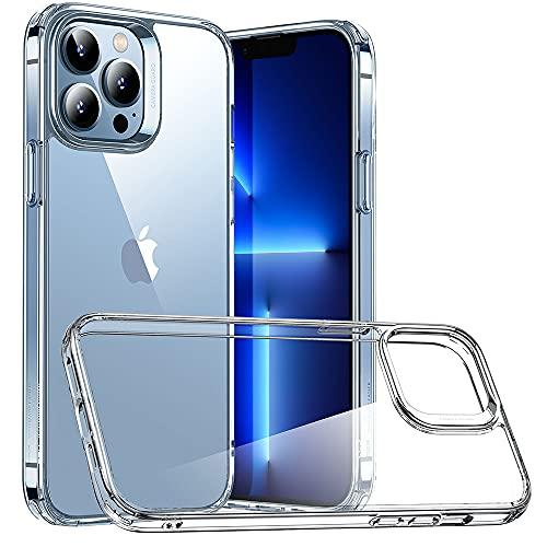 ESR Cover Ibrida Compatibile con iPhone 13 PRO, Retro AntiGraffio, Custodia con Struttura Protettiva Antiscivolo, Serie Classic, Trasparente