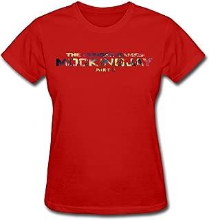 TeaTime Women's T Shirts Pop The Hunger Games Mockingjay Part 2 Purple
