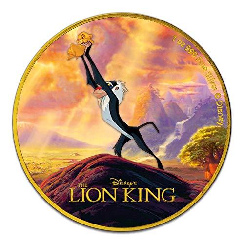 Power Coin Lion King The Circle of Life Disney 1 Oz Moneda Plata 2$ Niue 2020