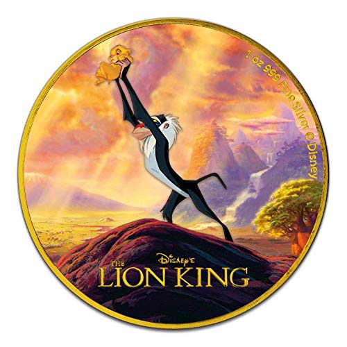 Power Coin Lion King The Circle of Life Disney 1 Oz Moneda Plata 2$ Niue 2020
