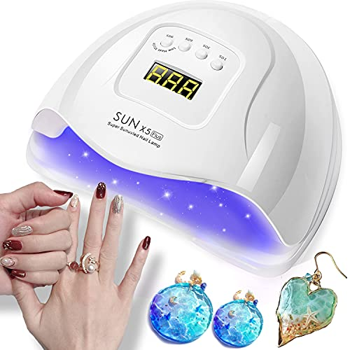 TENGEE UVライト レジン用 硬化ライト ネイルライト 80W 痛みのない低ヒート機能 4段階タイマー機能 自動感知センサー UV/LED二重光源 取扱説明書付 6ヵ月保証
