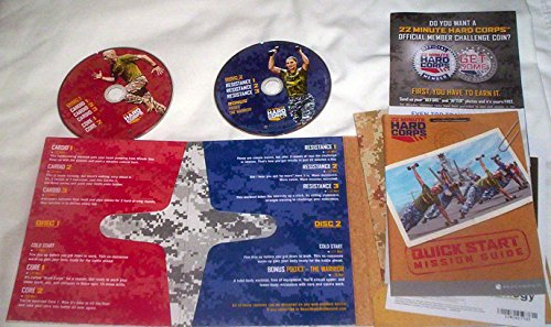 22 Minute Hard Corps DVDs and Guide Set by Beachbody
