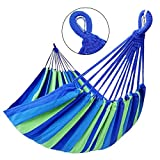 GOCAN Brazilian Double Hammock 2 Person Extra Large Canvas...