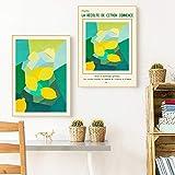 ZHJJD Picasso Amarillo limón Pintura al óleo sobre Lienzo póster Mediados de Siglo Moderno Arte de Pared Impresiones Cocina Cuadros Decorativas para el hogar 40x50cmx2 sin Marco