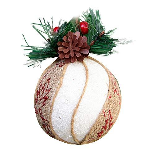 Wyi Bola de Navidad blanca grande de 7,5 cm, 6 bolas de...