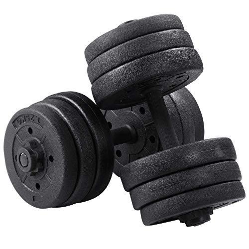 LeKu 20KG Hanteln Set, Verstellbare Kurzhanteln für Männer Frauen, Kurzhantel Set Hantelset Heim Fitness, Gewichtheben, Krafttraini, Bodybuilding