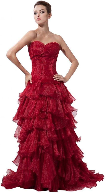 Scarlett Women's Strapless Organza Bridesmaid Evening Prom Dress