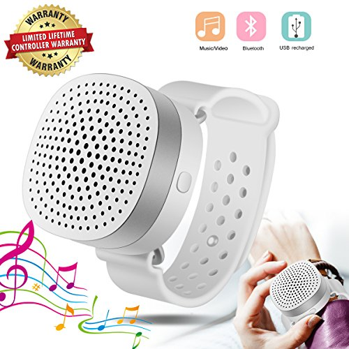 Wireless Bluetooth Speaker Portable Handy Wrist Speaker Wear Like Watch, Travel Speaker Built-in Mic for Hands Free, Outdoor Sports Wireless Stereo Speakers for iPhone iPad Android Smartphone Tablet
