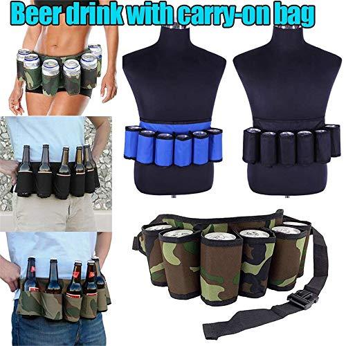 MY-COSE Bierhouder-riem, bier gesp, ergonomisch design, verkrijgbaar in verschillende kleuren, personaliseerbaar, zwart