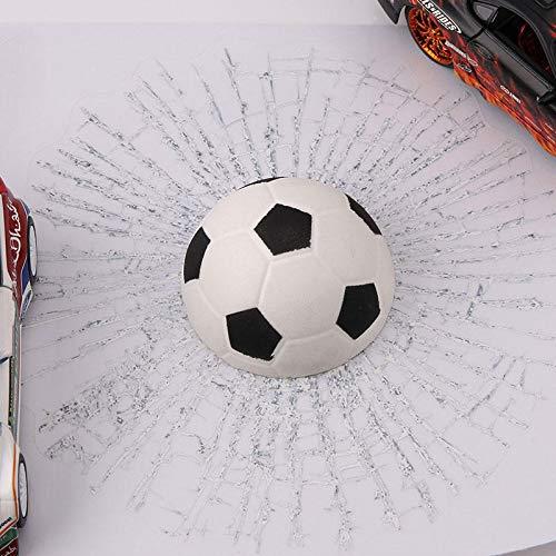 RENCALO Kreative wasserdicht PVC-3D-Auto-Fenster-Aufkleber Tennisball-Hits Car Body Aufkleber-White Football