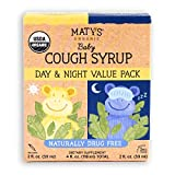 Maty's Organic Baby Cough Syrup Day & Night Value Pack, Naturally Drug Free, For Ages 3+ Months, 2-2oz. Bottles
