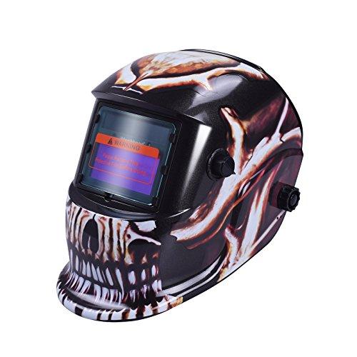 nuzamas funciona con energía solar auto oscurecimiento soldadura casco máscara de soldadura cara protección para Arc Tig Mig de Molienda de corte por plasma con pantalla de ajustable gama DIN4