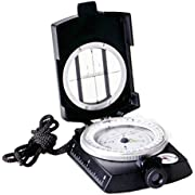 Ueasy Military Compass, Prismatic Sighting Compass - Magnetic Waterproof Hand Held Professional Compass for Boy Scouts Hunting Camping Sailing Navigation Hiking
