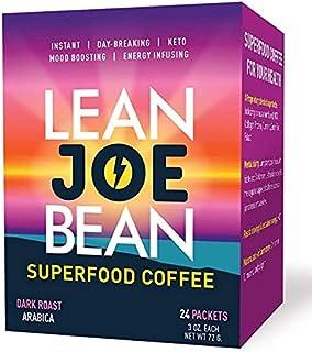 Lean Joe Bean Superfood Coffee | Organic Instant Keto Coffee with Mushrooms, MCT, Collagen, Turmeric, Probiotics & Folate ...