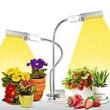 Lampe pour Plante, 100 LEDs Lampe de Croissance, E27/E26 Double remplaçable Ampoule Horticole LED con Cygne Flexible 360°et 2-Switch,Grow Light Spectre Complet Eclairage pour Les Plantes d'intérieur