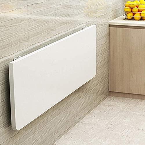 Mesa plegable de pared, madera plegable para ahorrar espacio, escritorio convertible, mesa de trabajo multifunción (32 x 12 pulgadas)