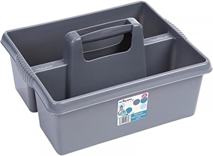 Kitchen Tidy Organiser Cleaning Caddy Tote Tray Large Strong Cleaners Carry Tray Basket
