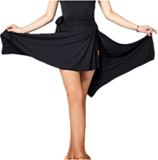 YOUMU Women Latin Salsa Tango Dance Skirt Dress Skate Wrap Scarf Dancewear Swing Rumba ChaCha Ballroom Costume