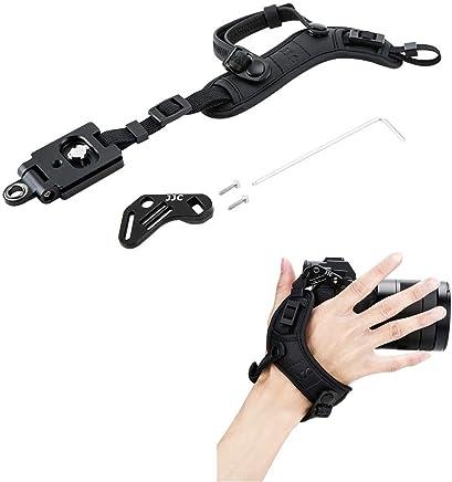 JJC Deluxe Mirrorless Camera Hand Strap Wrist Strap for Sony A7 III A7 II A7 A7R III A7R II A7R A7S II A7S A9 A6500 A6400 A6300 A6000 A5100 Panasonic GH5 GH5S GH4 GX85 GX9 G7 G9 G85 G95 S1R S1 & More