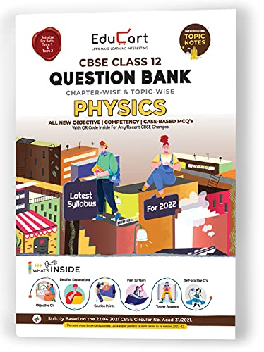 Educart PHYSICS Class 12 CBSE Question Bank 2022 With REDUCED...