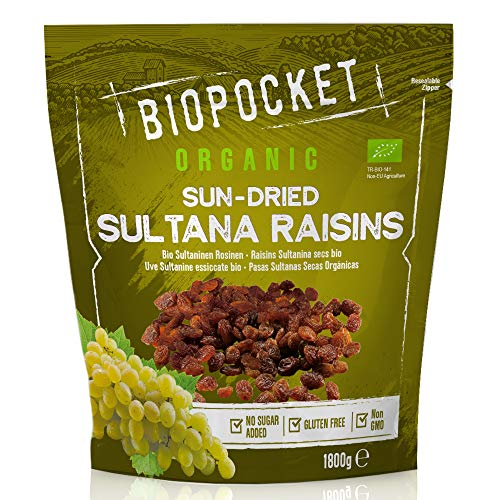 Biopocket, uva sultanina essiccata biologica, 1800 g